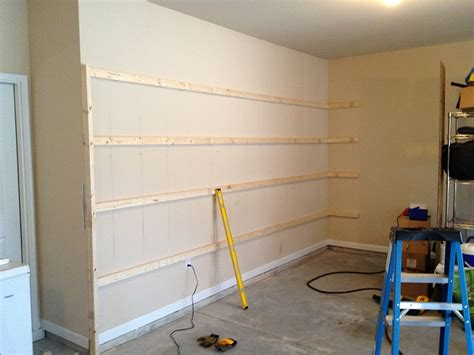 building wall bookshelves how to build sturdy garage shelves 171 home improvement