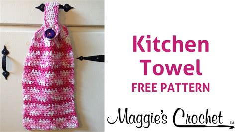 dish towel potholder tutorial youtube home cotton kitchen towel free crochet pattern right