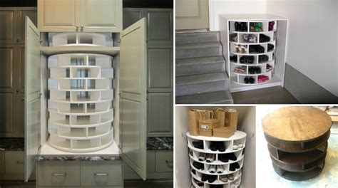 diy lazy susan shoe rack lazy susan shoe rack icreatived