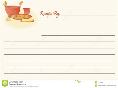 printable recipe card stock recipe card cookies royalty free stock images image
