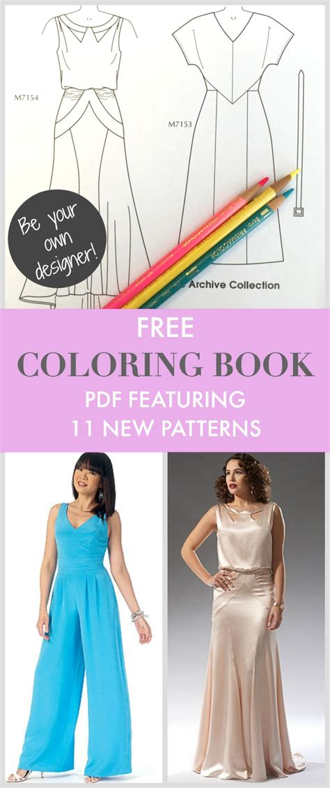 fashion design books pdf free friday goodies new mccall s coloring book sewing video