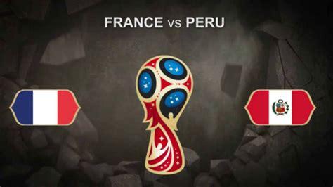 2018 fifa world cup match prediction vs peru