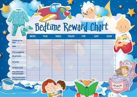 printable reward chart for staying in bed bedtime reward chart livingandloving