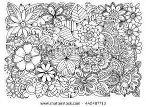 flower doodle coloring pages flower line stock images royalty free images