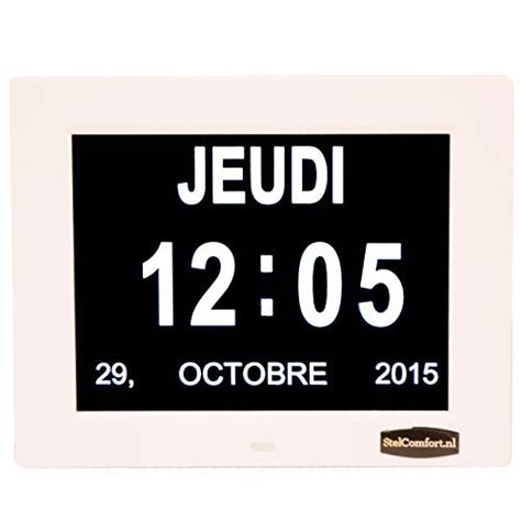 Calendrier Digital Mural Horloge Calendrier Avec Date Jour Et Heure Horloge