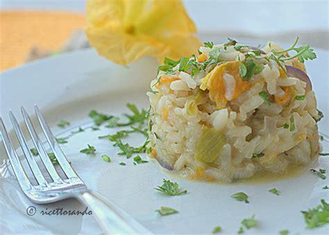 risotto coi fiori di zucca ricettosando ricette di cucina