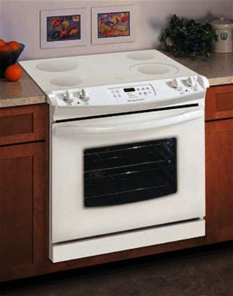 drop in stove frigidaire fed365eq drop in 30 inch electric range bisque