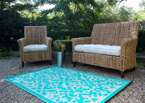 outdoor teppich venice turquoise indoor outdoor rug