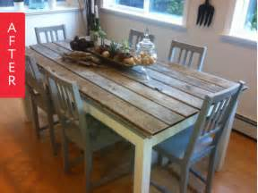 Dining Room Tables Painted With Chalk Paint Before After Dining Room Set Gets A Makeover