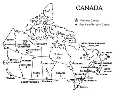 map of canada provinces and capitals printable map of canada with provinces and territories