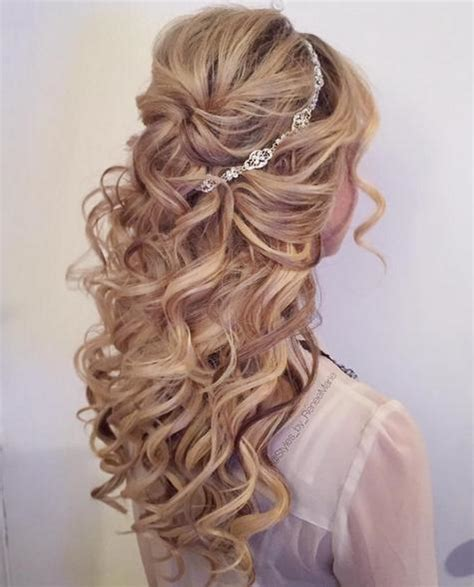 Wedding Hairstyles No Curls by Half Up Bridal Style With Curls Hairstyles For Hair