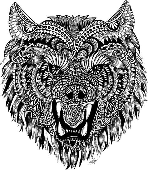 quot mandala wolf quot stickers by melanie vasina redbubble