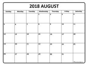 Calendar 2018 August August 2018 Calendar August 2018 Calendar Printable