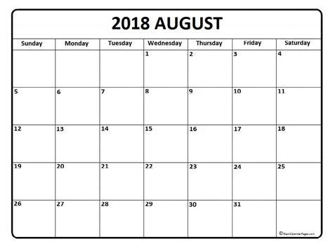 printable calendar pages 2018 august 2018 calendar august 2018 calendar printable