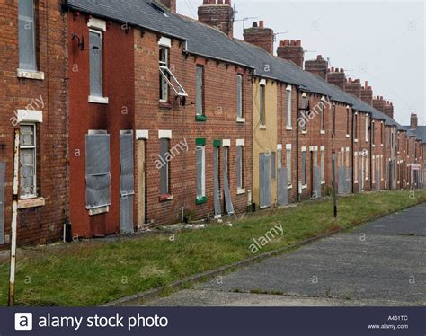 houses to buy in durham abandoned miners houses in easington colliery county durham great stock photo