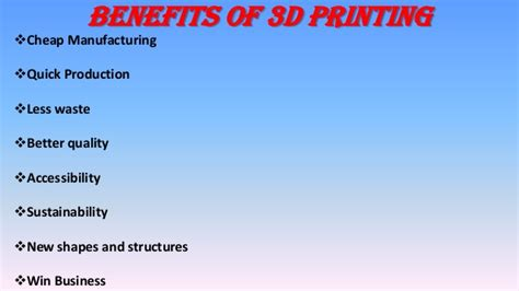 The Benefits Of 3d Printed 3d Printing
