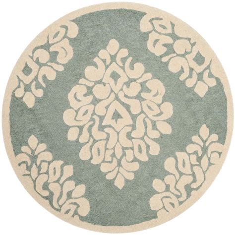 Safavieh Martha Stewart Arrowroot 4 Ft X 4 Ft Round Area 4 Foot Area Rugs