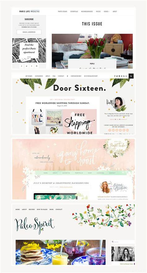 layout design inspiration blog beautiful blog design website layout headers