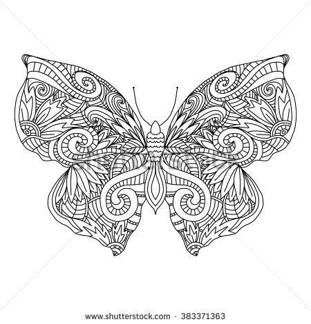 butterfly doodle coloring pages butterfly hand drawn ethnic patterned in doodle zentangle