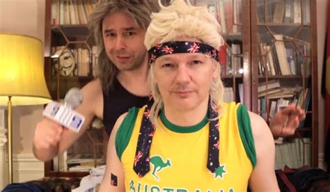mullet lips youtube how julian assange ended up wearing a fake mullet stuff