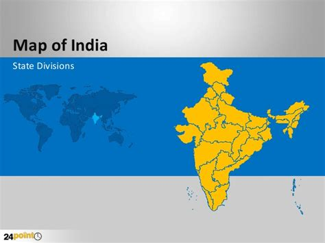 Editable Powerpoint Map Of India India Map Ppt