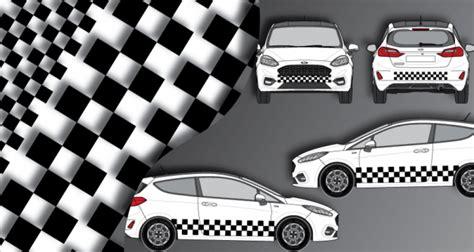 Racing Paradise Sticker by Stickers Rallye Kart Cross Kit Racing Damier 4 Faces