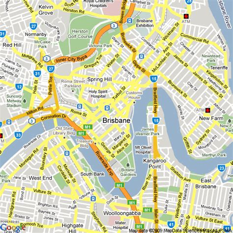 map world brisbane brisbane map map