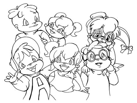 Free Printable Chipettes Coloring Pages For Kids Alvin And The Chipmunks Colouring Pages