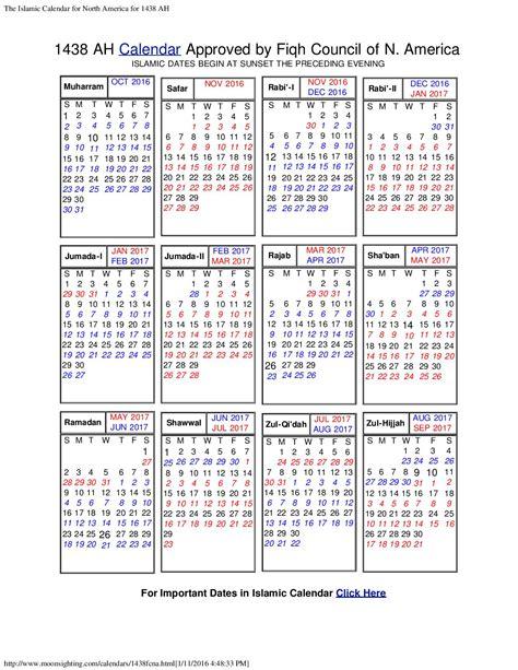 Calendrier Hijri 1439 Islamic Calendar Isgvf