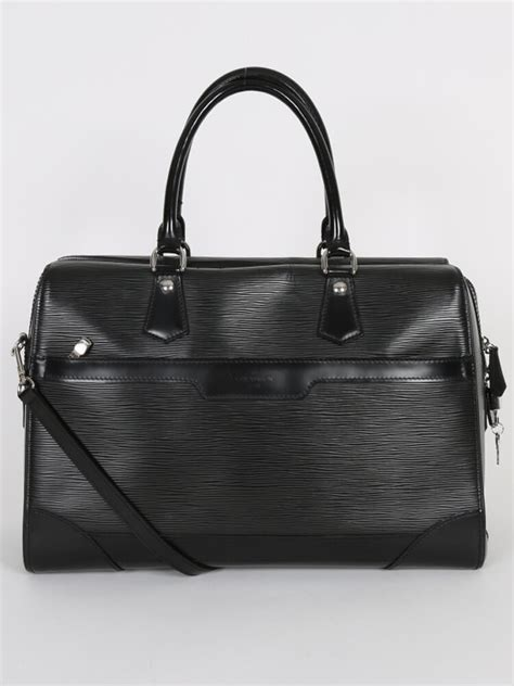 Louis Vuitton Epi Leather Collection by Louis Vuitton Bourget City Epi Leather Noir Luxury Bags
