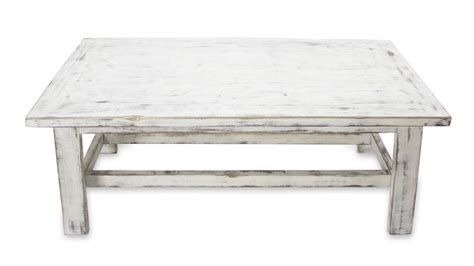 handcrafted rustic white wood coffee table yahualica