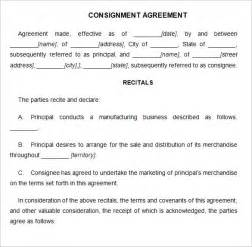 consignment agreement template consignment contract template 4 free word pdf documents