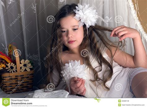 preten lolad retro young girl stock photo image of lace young