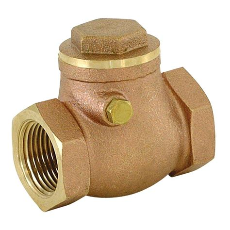 brass swing check valve ez flo 1 1 2 in ips brass swing check valve 20429lf the