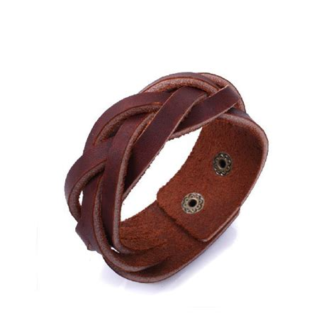 Handmade Leather Bracelet - handmade leather bracelet leather wrap bracelet