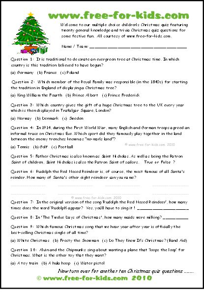 printable christmas quizzes for families kids who am i trivia quiz free printable trivia questions
