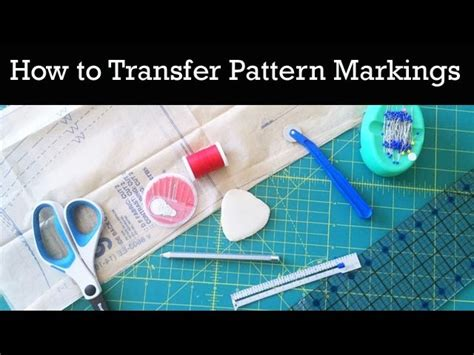 fabric pattern markings how to transfer pattern markings to fabric my crafts and
