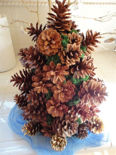 pine cone tree craft a more a tiny pine cone tree i made