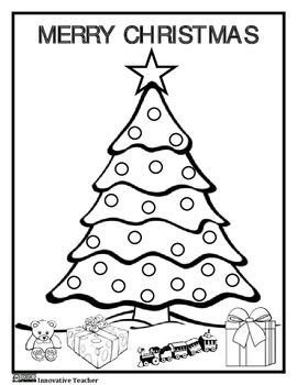 christmas tree math coloring page christmas coloring worksheets for first grade printable