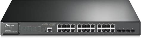 Tl Sg3424p Tplink Jetstream Switch 24 Port Gigabit L2 Managed Poe tp link jetstream 24 port gigabit l2 managed poe switch with 4 sfp slots t2600g 28mps tl