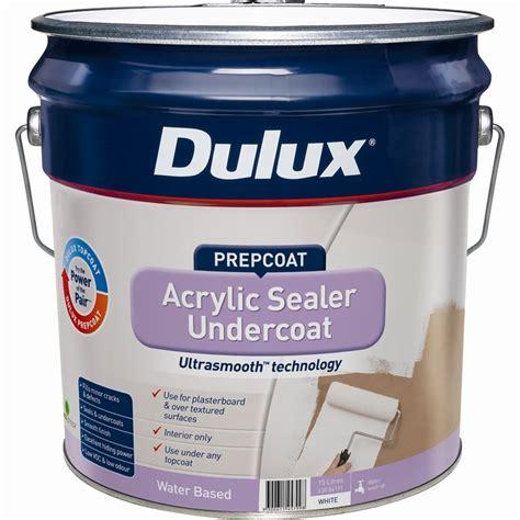 Acrylic Sealer dulux prepcoat 15l white acrylic sealer undercoat bunnings warehouse