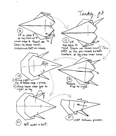 Origami Turkey Diagram - barbour origami