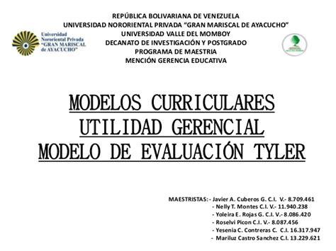 Modelo De Evaluacion Curricular De Ralph Pdf Modelo De Evaluacion De 1