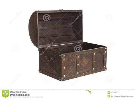 alte schatztruhe open treasure chest isolated royalty free stock images