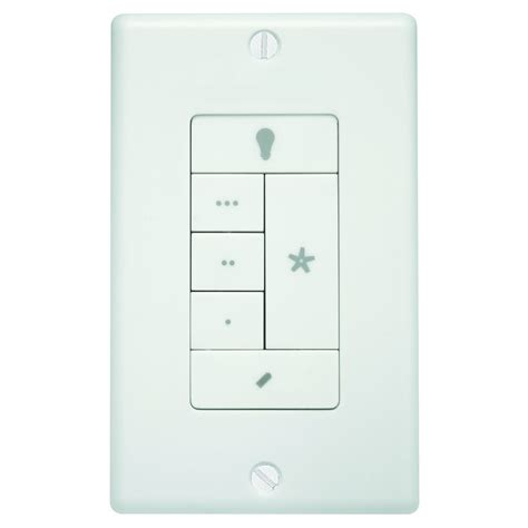 in wall fan remote shop hunter white wall mount universal ceiling fan remote