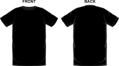 Black Shirt Template Doliquid T Shirt Front And Back Template