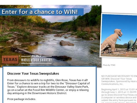 Texas Sweepstakes - discover your texas sweepstakes