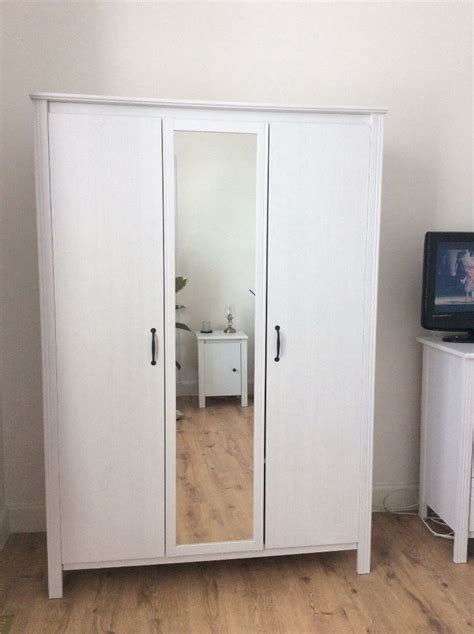 ikea brusali wardrobe assembly ikea brusali wardrobe with 3 doors in dunfermline fife