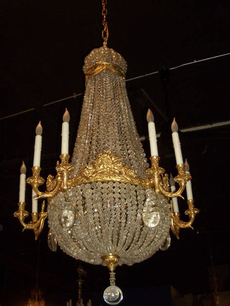 Dore Over Bronze And Crystal Chandelier Sterling Associates Gallery Chandelier