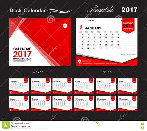 desk calendar vector template calendar